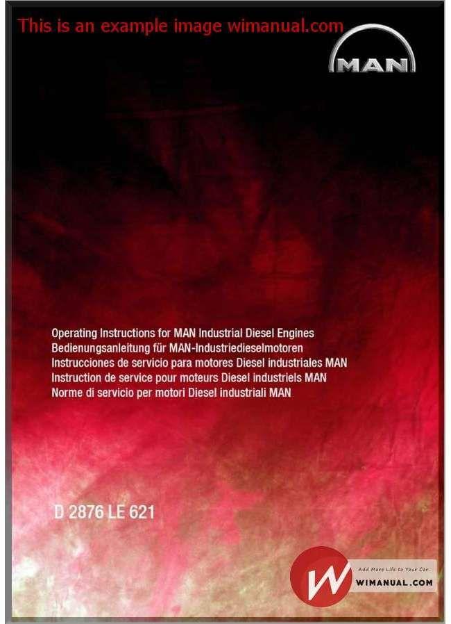 Man Industrial Diesel Engines D 2876 Le 621 Operating pdf