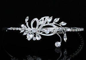 Bridal Wedding Side Headpiece Flower Tiara USE Swarovski Crystal T1671 | eBay
