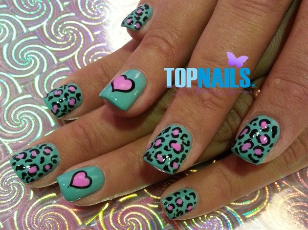 Acrylic Nails With Animal Print Designs By Topnailschile From Nail