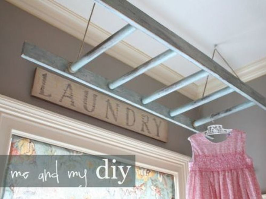 6 Use A Ladder As A Drying Rack House Pinterest Laundry