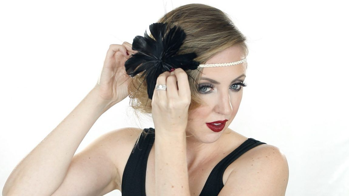 Easy Halloween Hair Tutorial - 1920s Flapper | 1920s hair ...