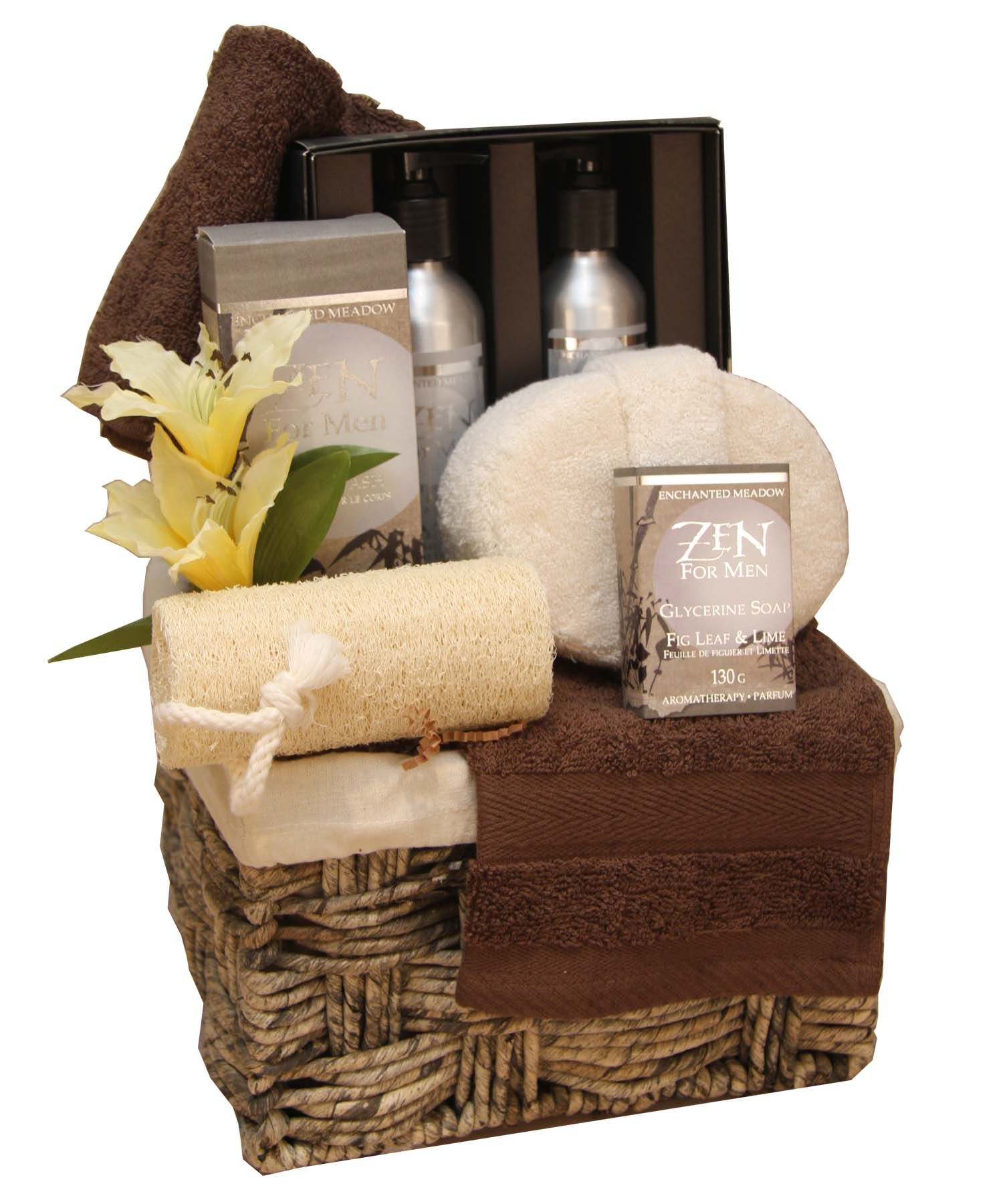 Gift Baskets For Womens Shelter : Manly spa gift basket lime g gifts