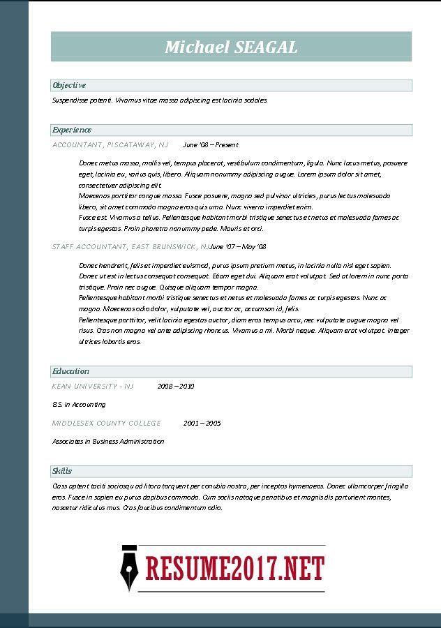 Good Resume Templates 2017 Free #resume #ResumeTemplates #templates