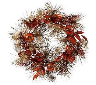 24 Berry Mixed Pine Wreath by Vickerman