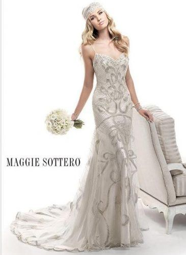 Vintage Wedding We Are Obsessed With This Gown By Maggie Sottero Would Fit Right Into A Great Gatsby Theme