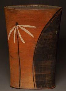 """Large Oval Flower"" - Sam Taylor (Wood/Salt/Soda Stoneware)"