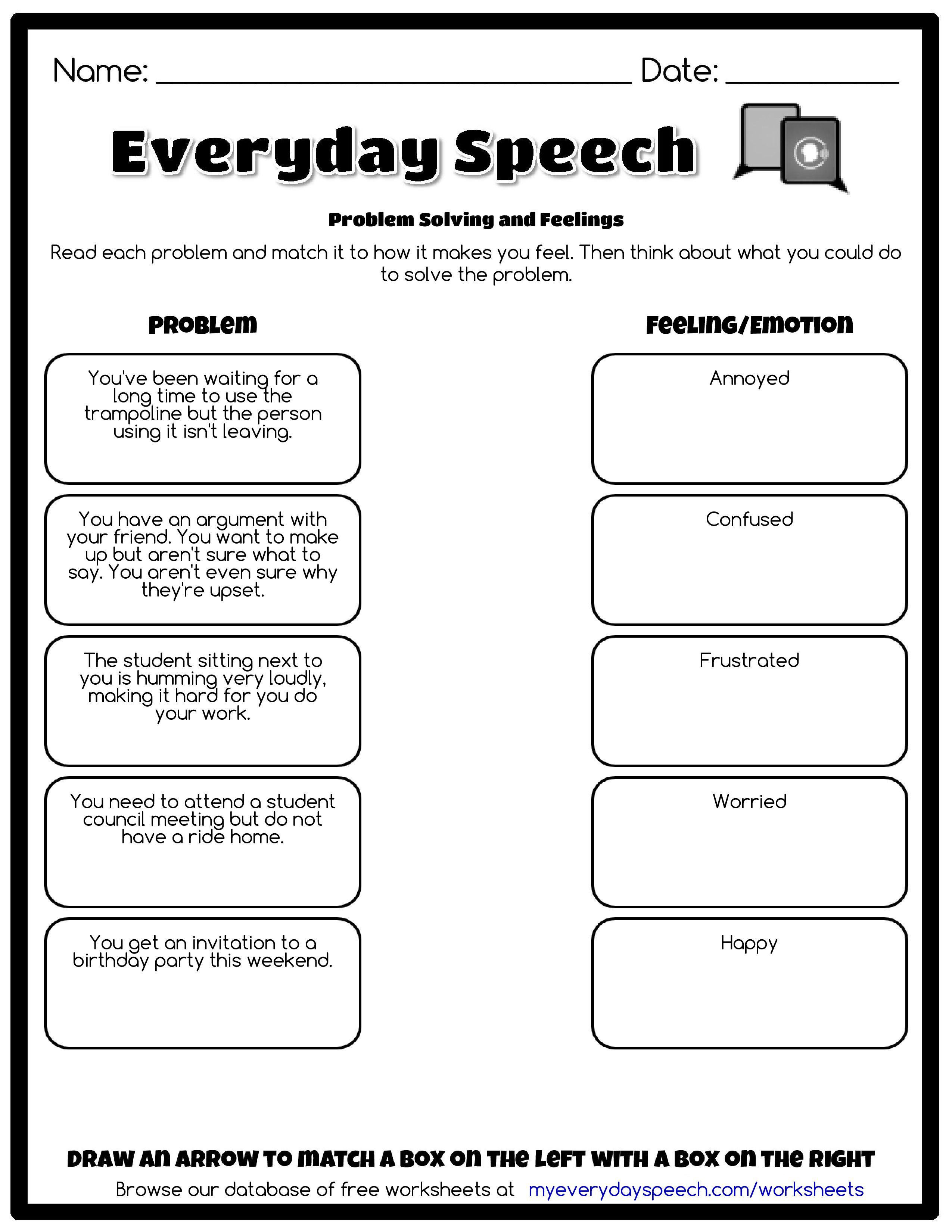 - Worksheet Creator (With Images) Social Skills, Perspective