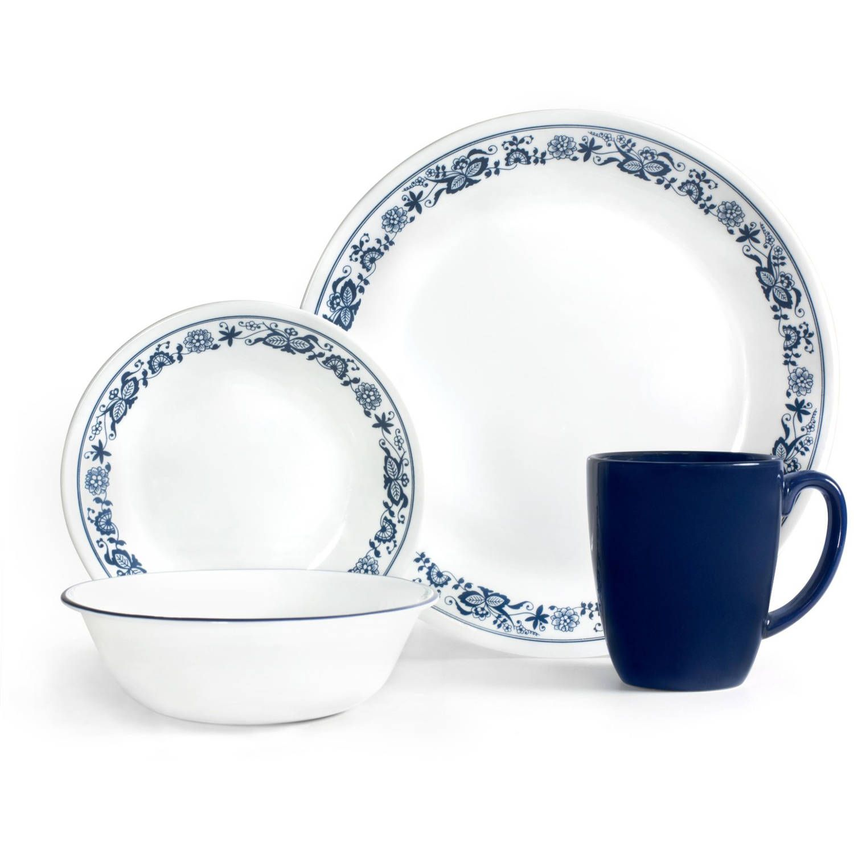 Corelle Livingware 16 Piece Dinnerware Set Old Town Blue