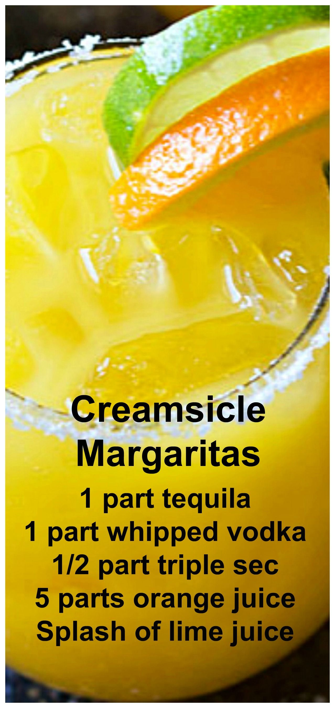 Creamsicle Margaritas #tequiladrinks