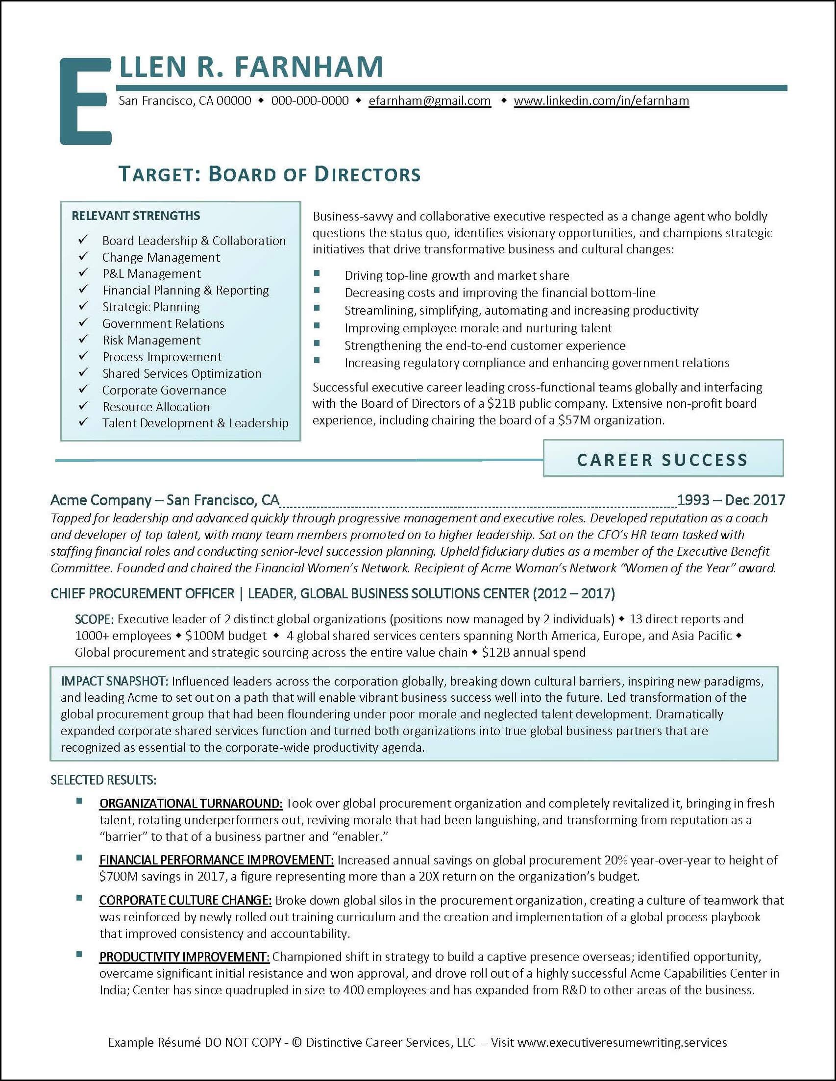 Award Winning Executive Resume Examples With Images Executive