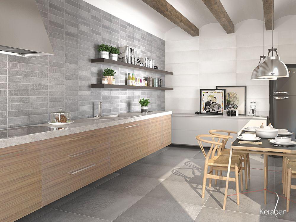 Cocina de dise o piedra cer mica tiles arquitectura - Ceramica para cocinas ...