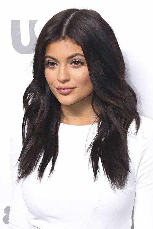 dunkelbraune lange frisuren frauen | haarfarben, frisuren