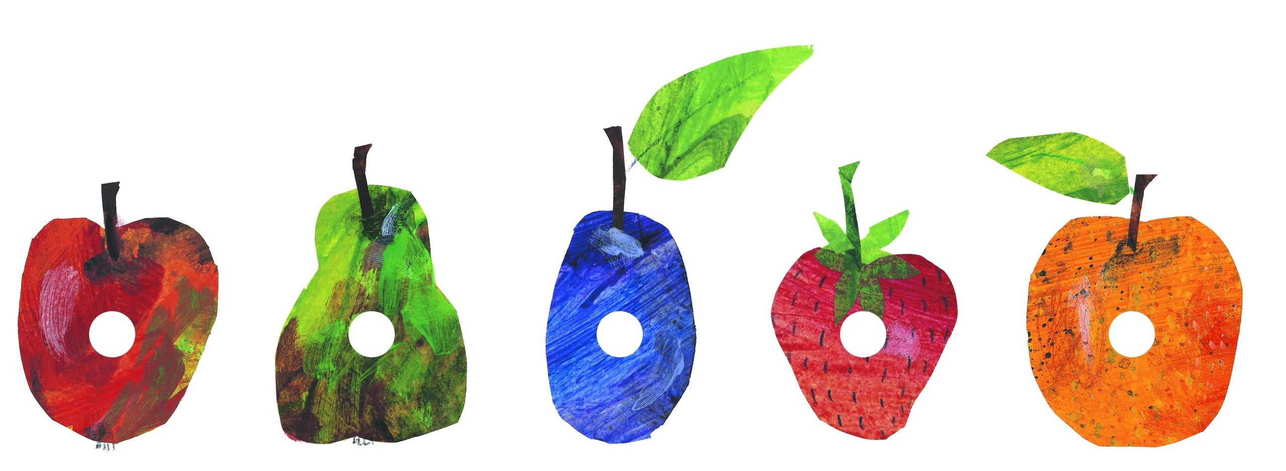 Free Printable The Very Hungry Caterpillar All The Fruit In A Row