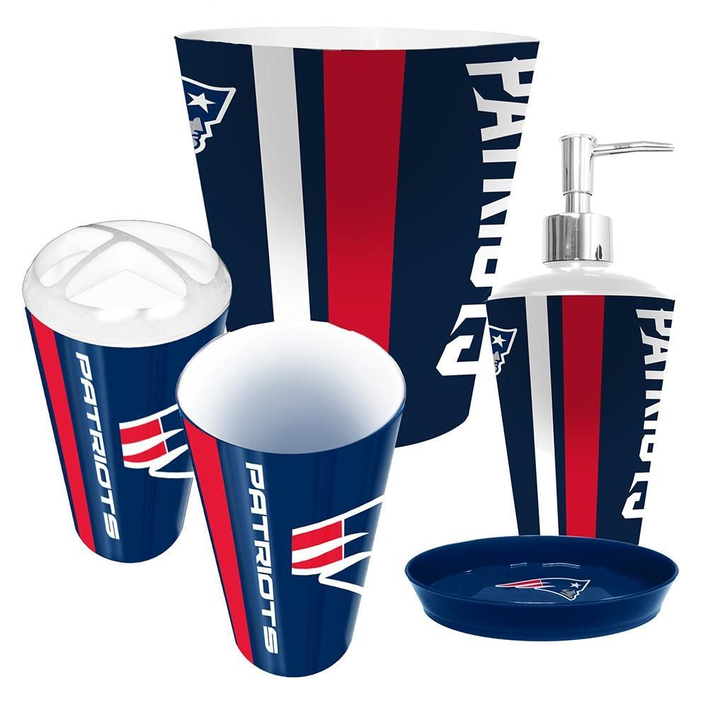 Charmant New England Patriots NFL Complete Bathroom Accessories 5pc Set