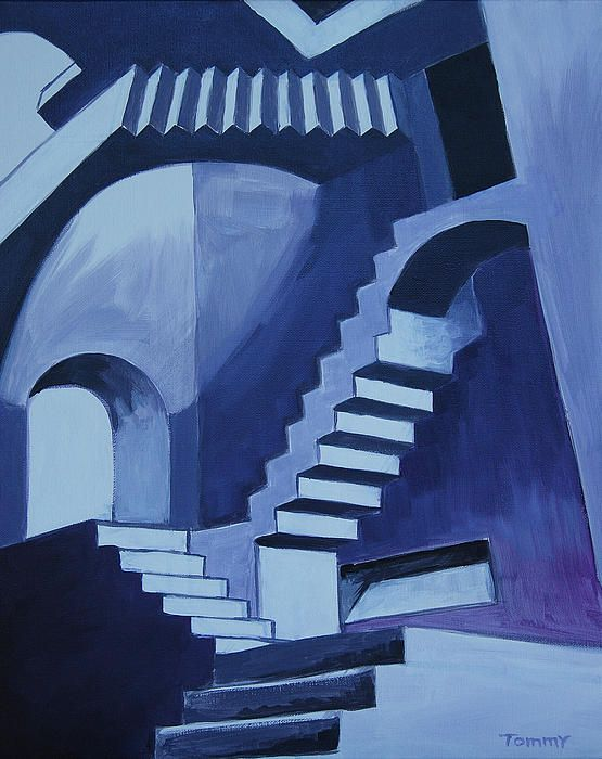 My Funky Stairs in 2020 | How to draw stairs, Stair art ...