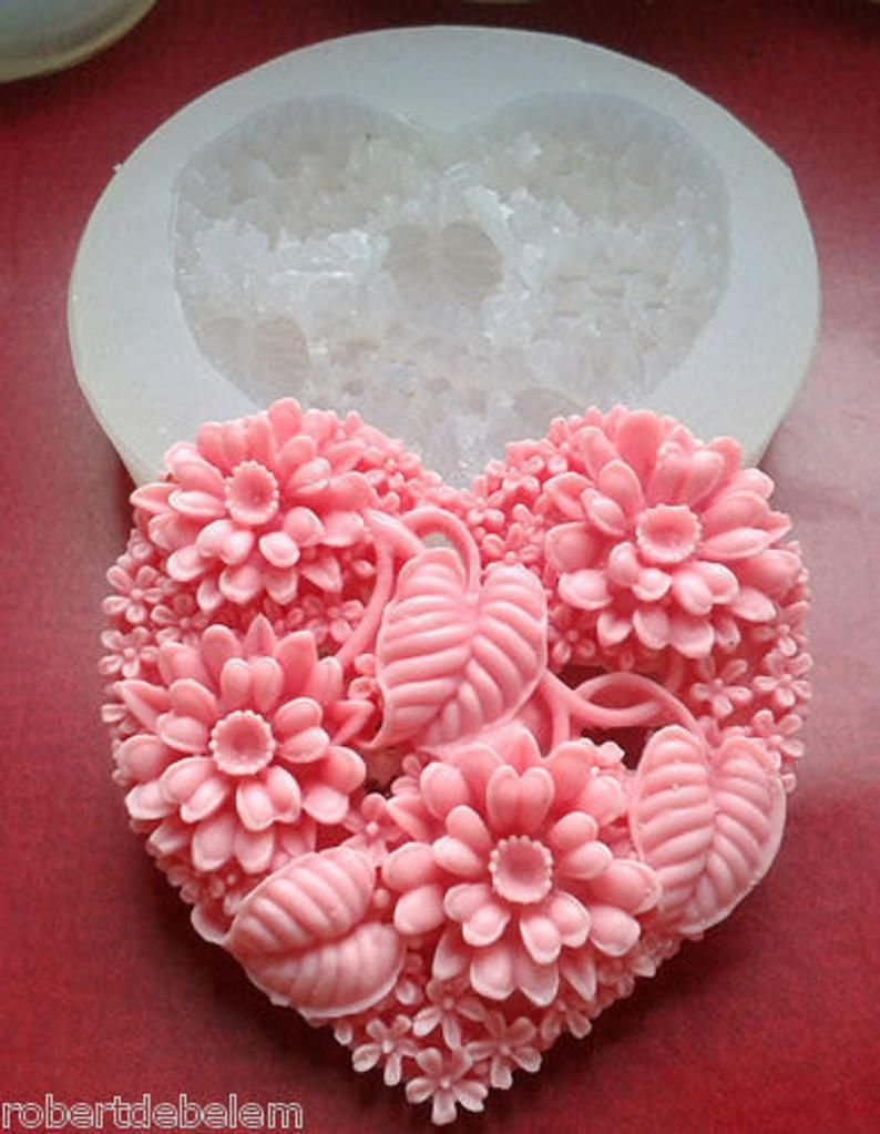 LOVE SOAP SILICONE MOLD MOULD RESIN PLASTER WAX