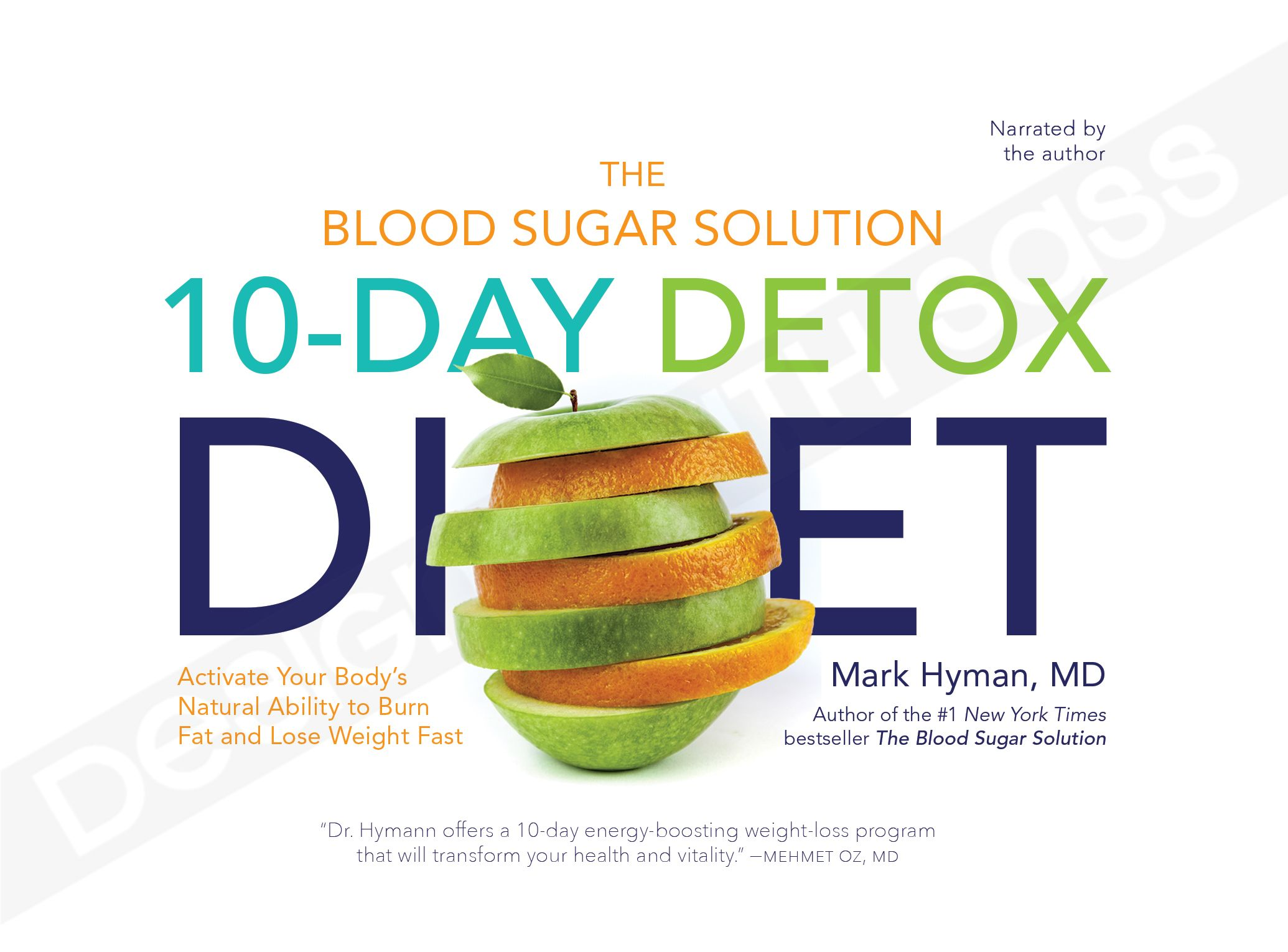 Book cover design by dws 10day detox diet by mark