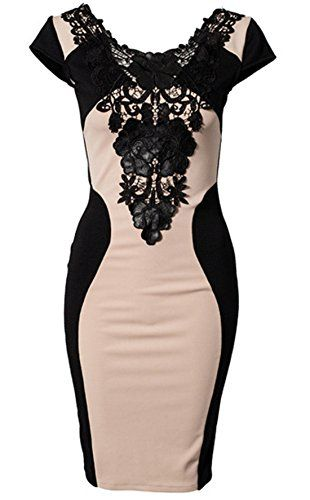 Sheinside® Women's Apricot Pu Leather Contrast Lace Embroidery Bodycon Dress (L, Apricot) Sheinside http://www.amazon.com/dp/B00ME9CLVQ/ref=cm_sw_r_pi_dp_cqWZub0GPB9FS