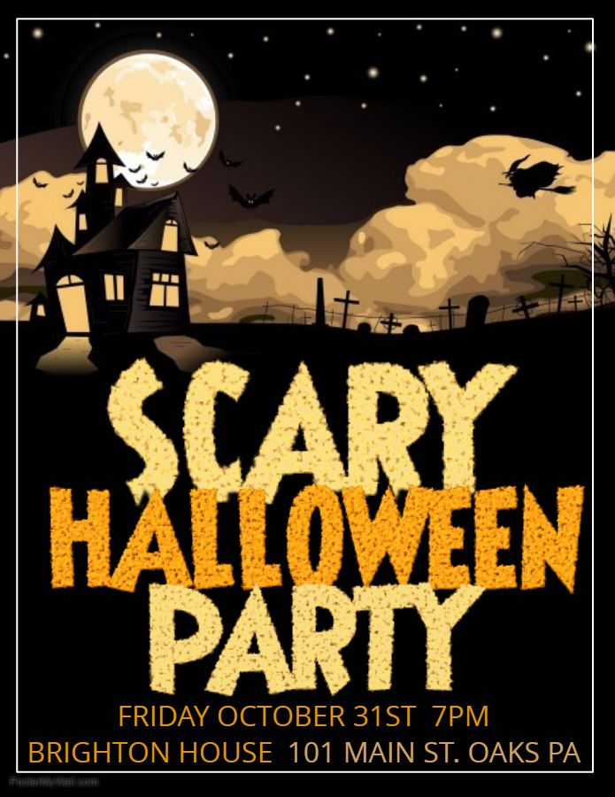 scary halloween flyer design template halloween party flyer