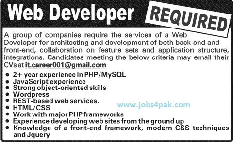 job opportunities for web developers expert in htmalcssphpmysql and php - Php Mysql Jobs
