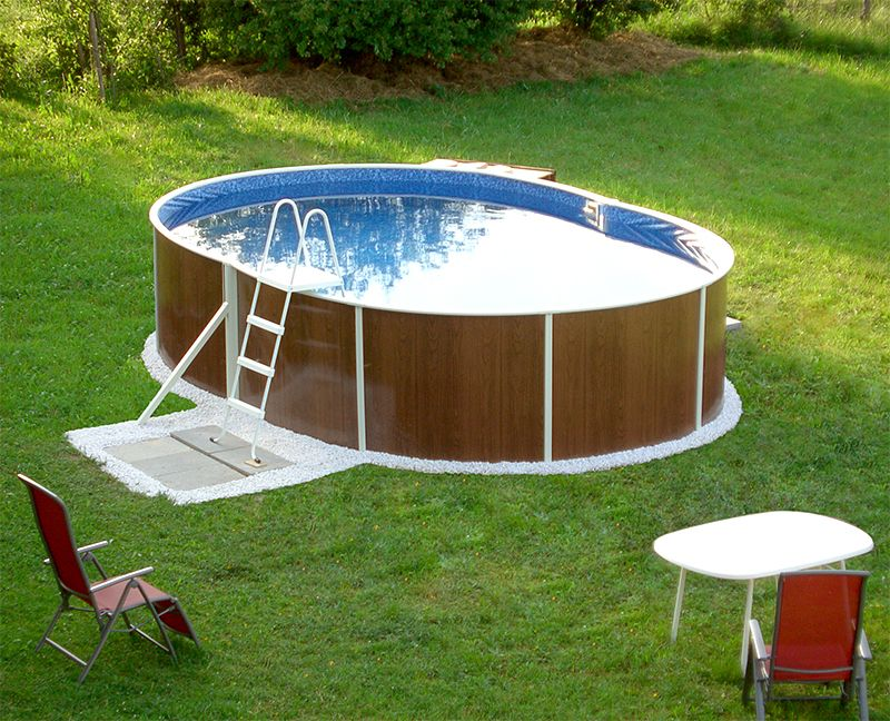 Ovalpool in toller holzoptik ein wunderbarer eyecatcher for Gartenpool oval