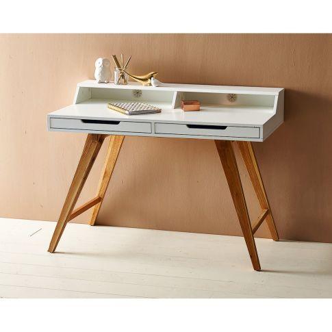 sekret r zwei schubladen schr ge beine retro look walnussbaumholz mdf vorderansicht feng. Black Bedroom Furniture Sets. Home Design Ideas