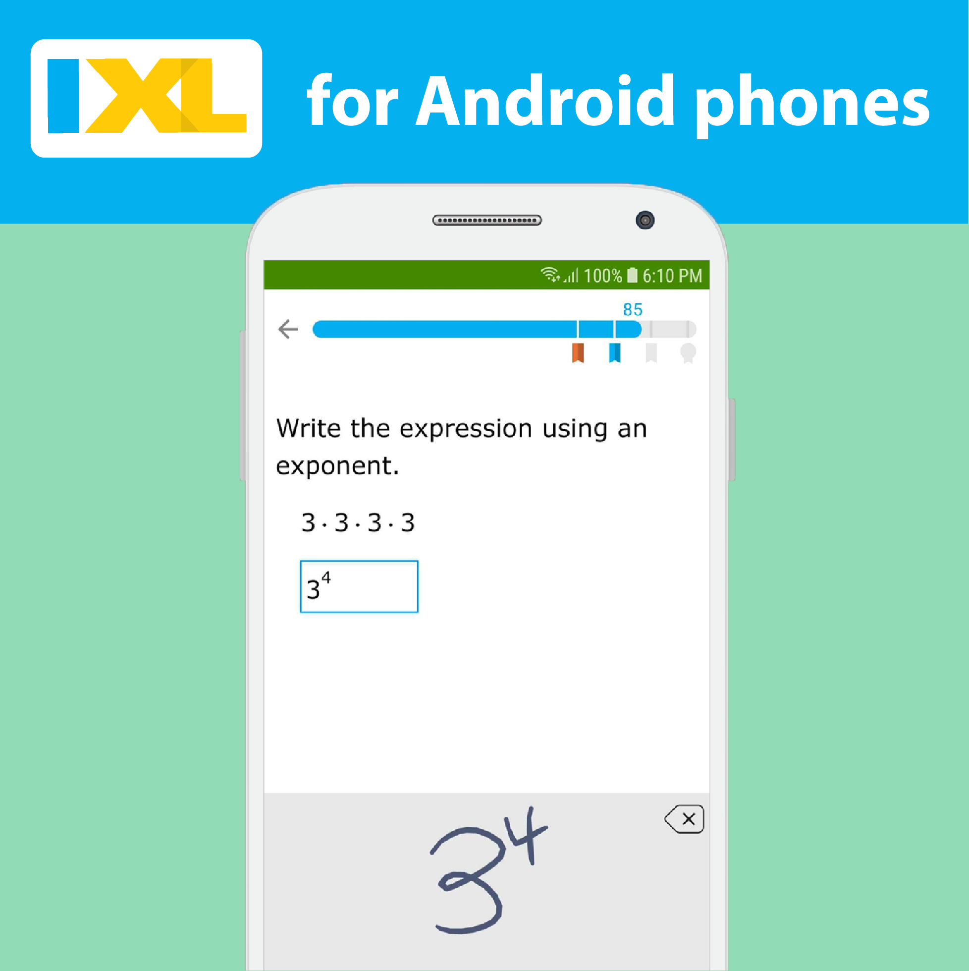 Android users rejoice! The IXL app is now available for