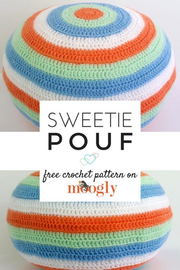 Sweetie Pouf - Free #Crochet Pattern on Moogly!