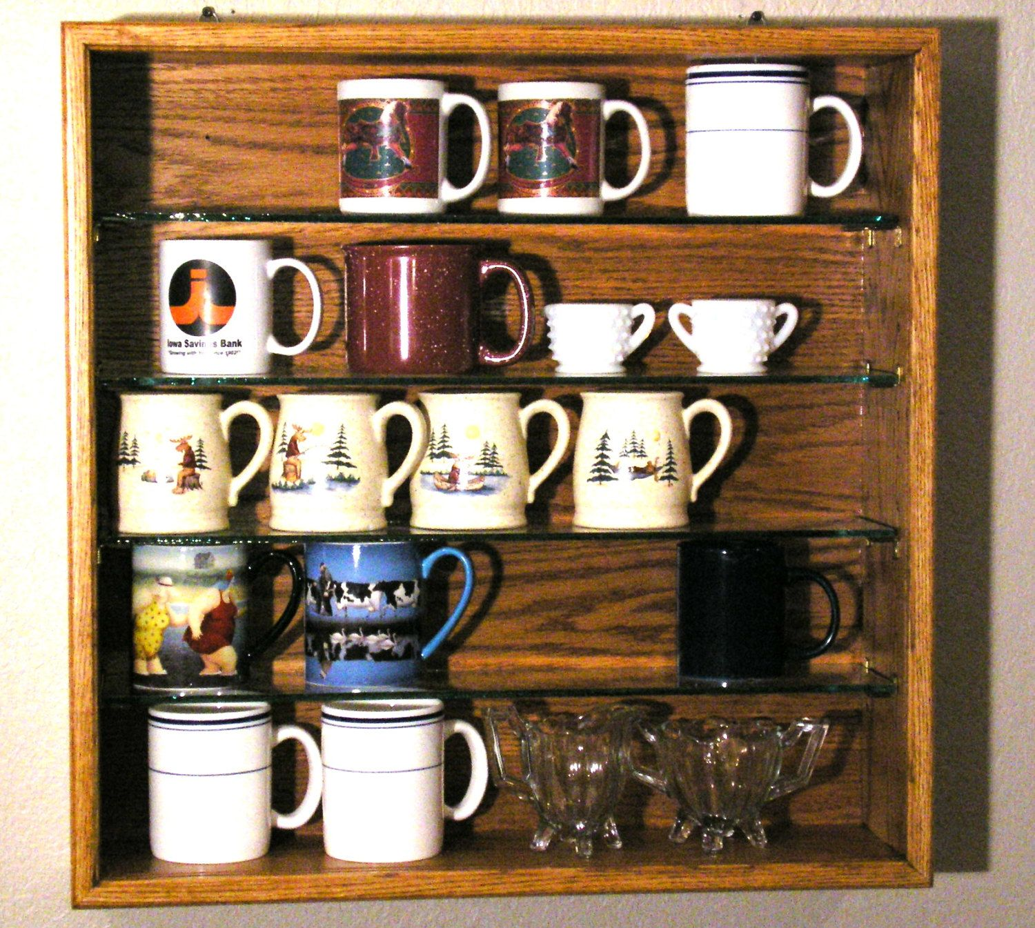 Coffee Mug Display Case 165 00 Via Etsy Mug Display Coffee Mug Display Mugs