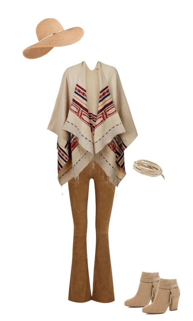 """""""Poncho 4"""" by destineestarkphotography on Polyvore featuring Frame Denim, Accessorize, River Island, Eugenia Kim and Chan Luu"""