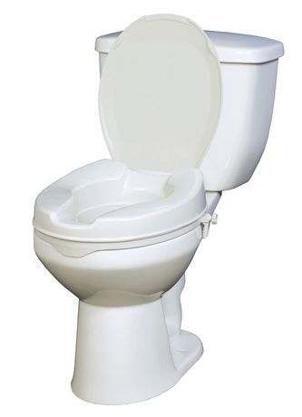 Drive Raised Toilet Seat With Lid One Size Fits All Toilet