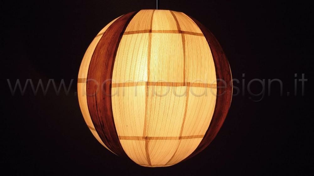 Lampada A Sospensione In Foglia Mais E Banano Sfera Diam 30 Cm Bambu Design Milano In 2020 Lamp Paper Lamp Design