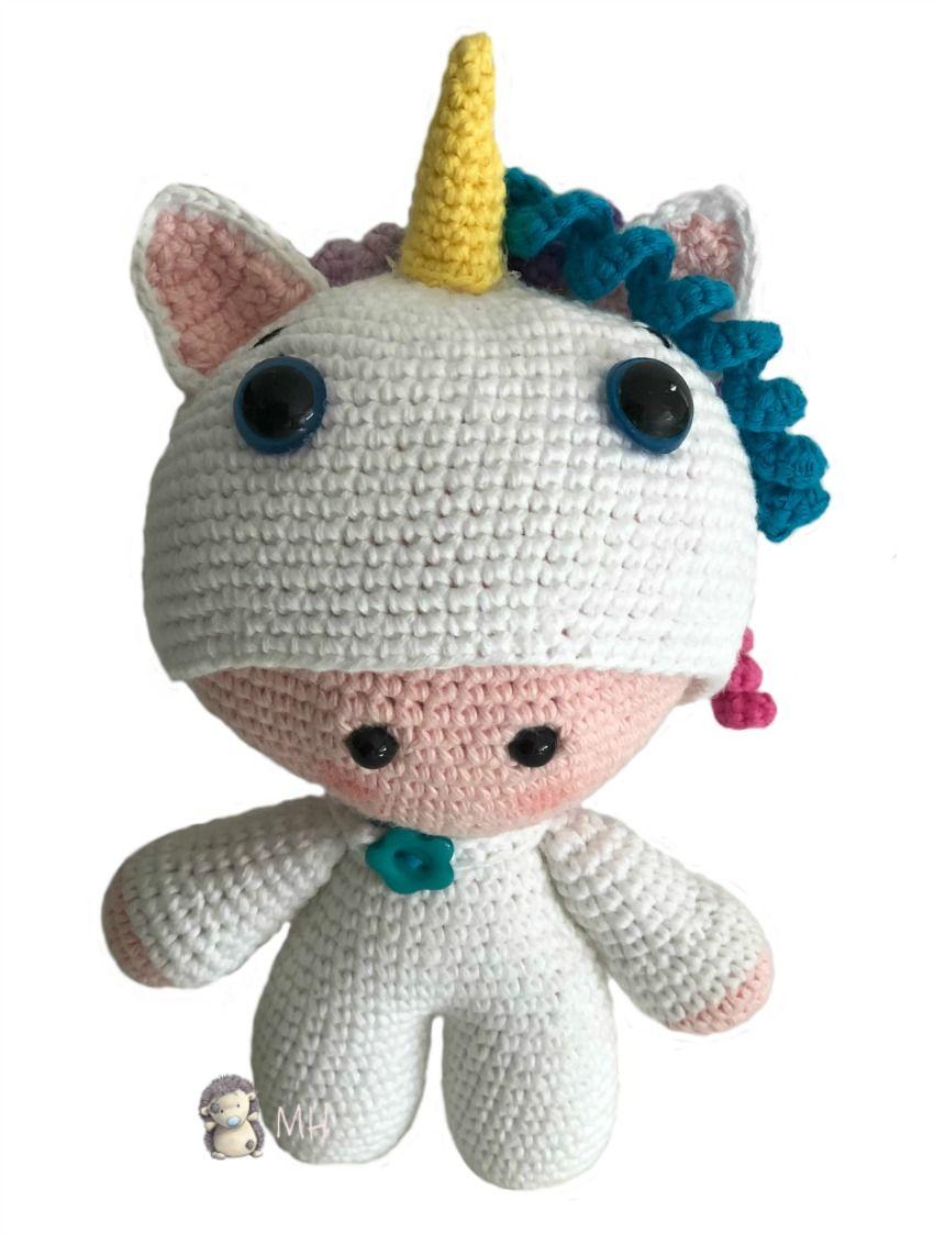 Patrón gratis para realizar un amigurumi Yoyo Unicornio. | Amigurumi ...