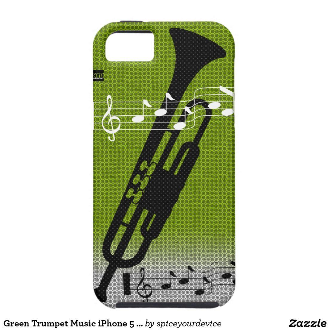 Green Trumpet Music iPhone 5 CaseMate Case