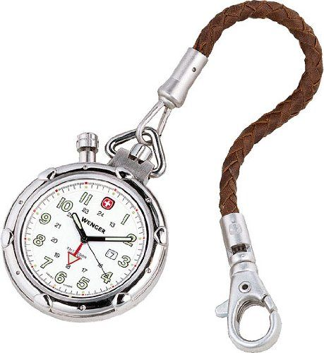 Wenger 73000 Pocket Swiss Watch Modern Pocket Watch Pendant Watches Leather Watch Fob