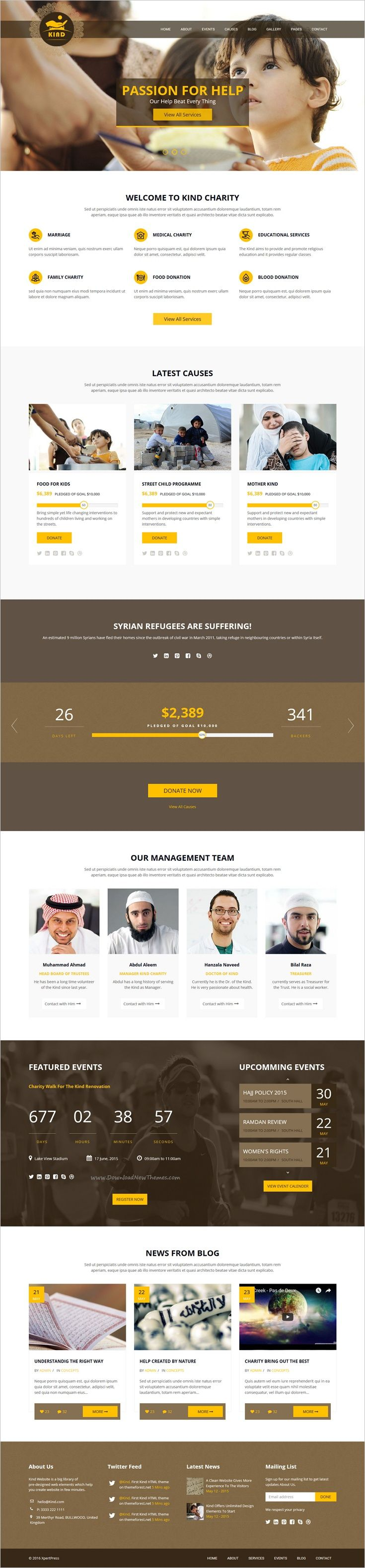 kind charity html template for mosque church and ngo charity