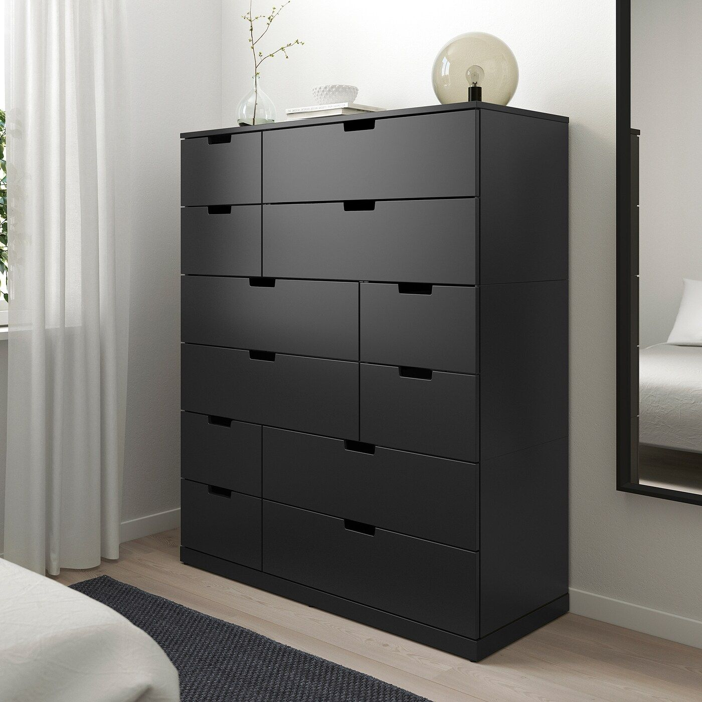 Nordli 12 Drawer Chest Anthracite 47 1 4x57 1 8 In 2020 Ikea