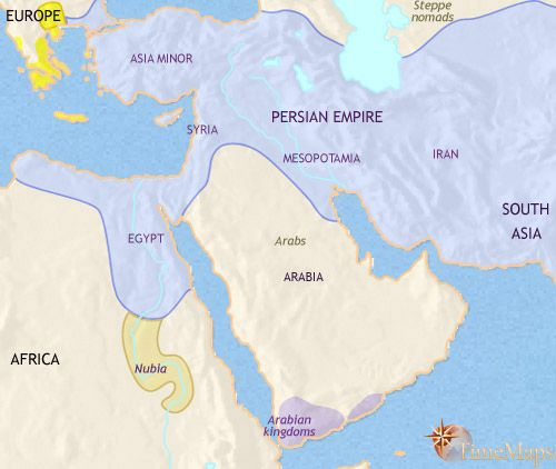history map of Middle East 500BC | Maps | Historical maps ...