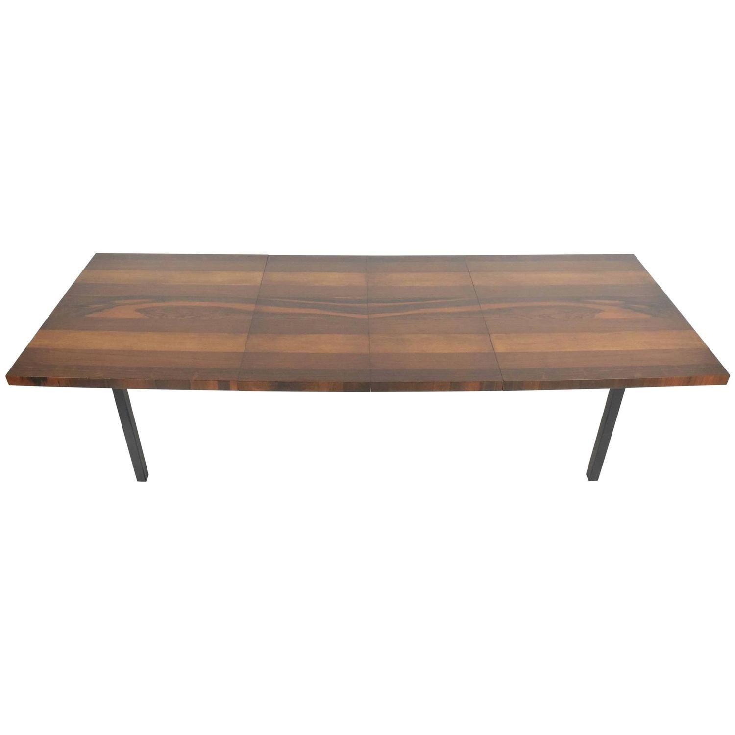 Milo Baughman Multiwood Striped Dining Table Table Dining Table
