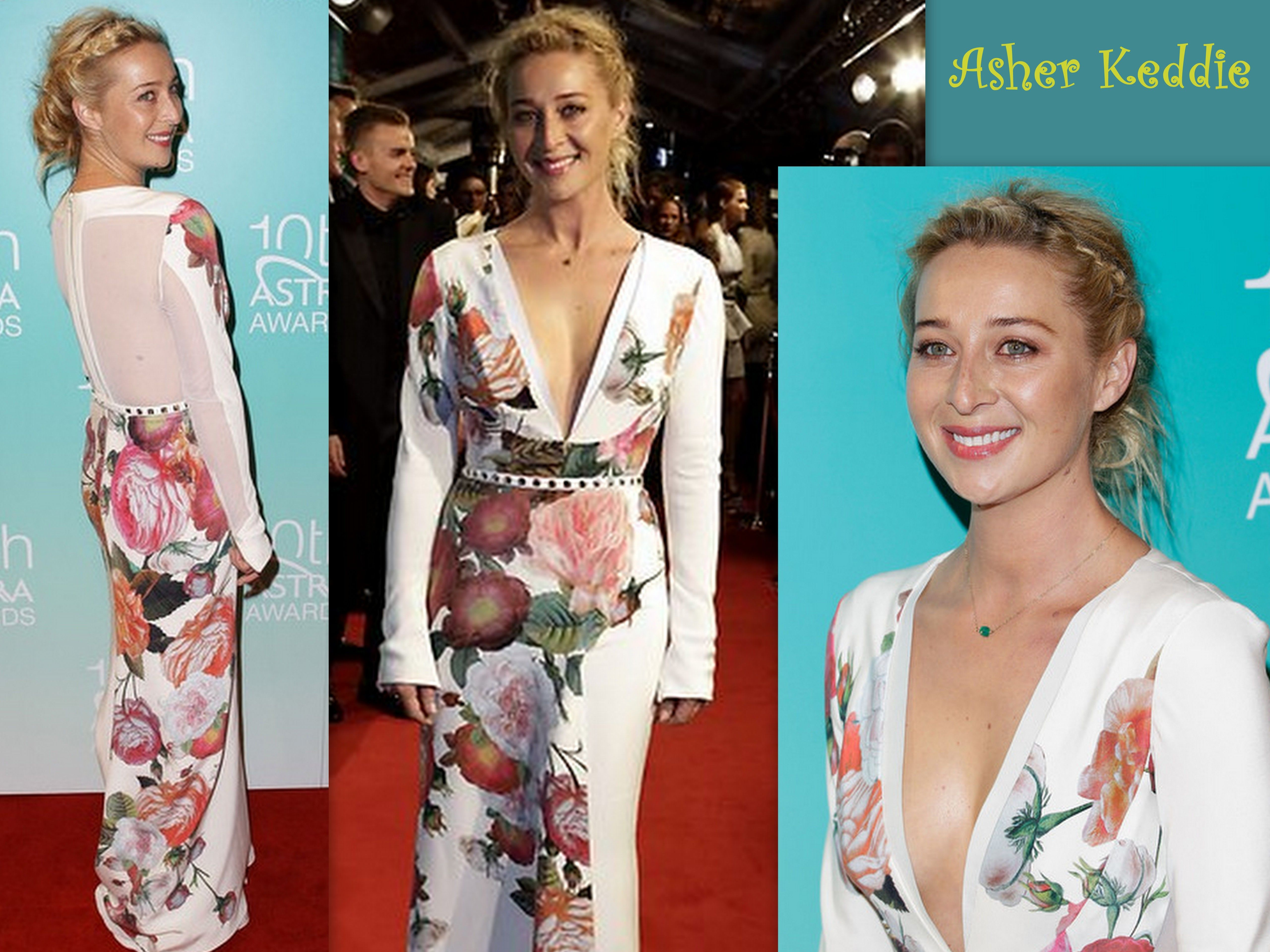 Asher keddie in juaton couture u th annual astra awards