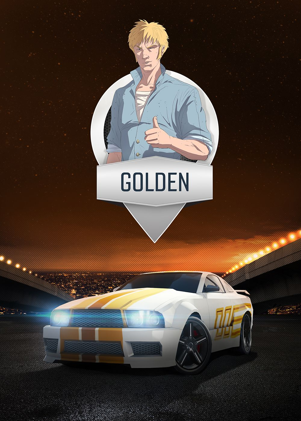 Golden - mobile game poster by T-Bull Entertainment | Top Speed ...
