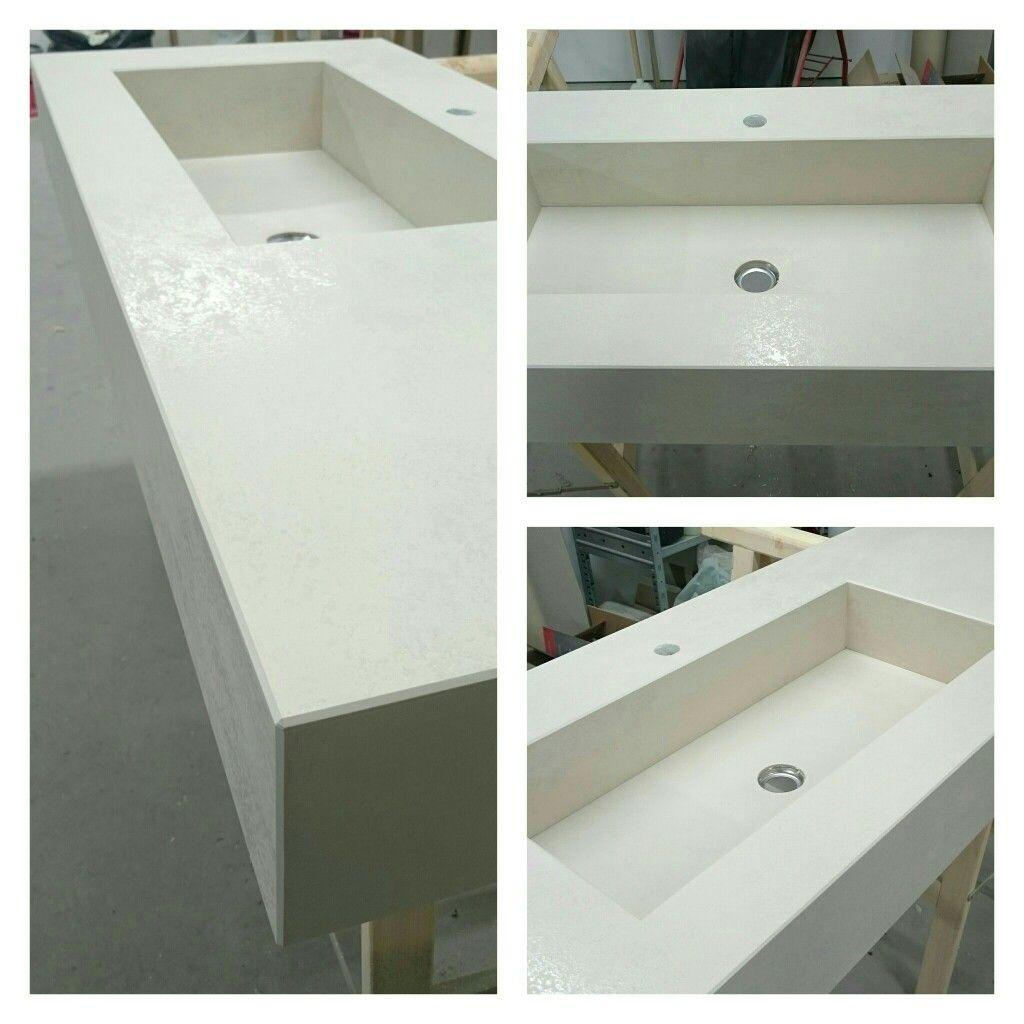 Top bagno realizzato in Laminam Oxide avorio. | Kerlite / Laminam ...