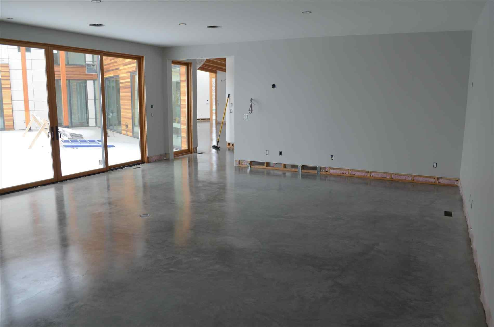 Amazing Concrete Flooring In Homes For