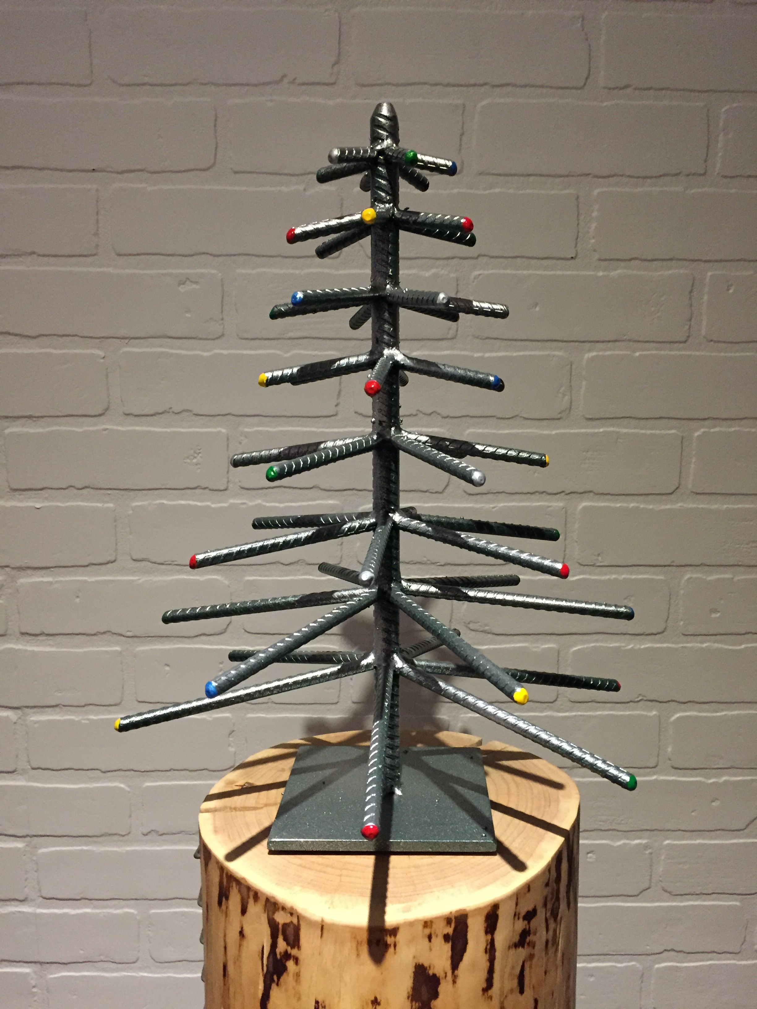 Rebar Christmas Tree Green Silver By Yanick Bluteau Metal Tree Wall Art Metal Tree Welding Art