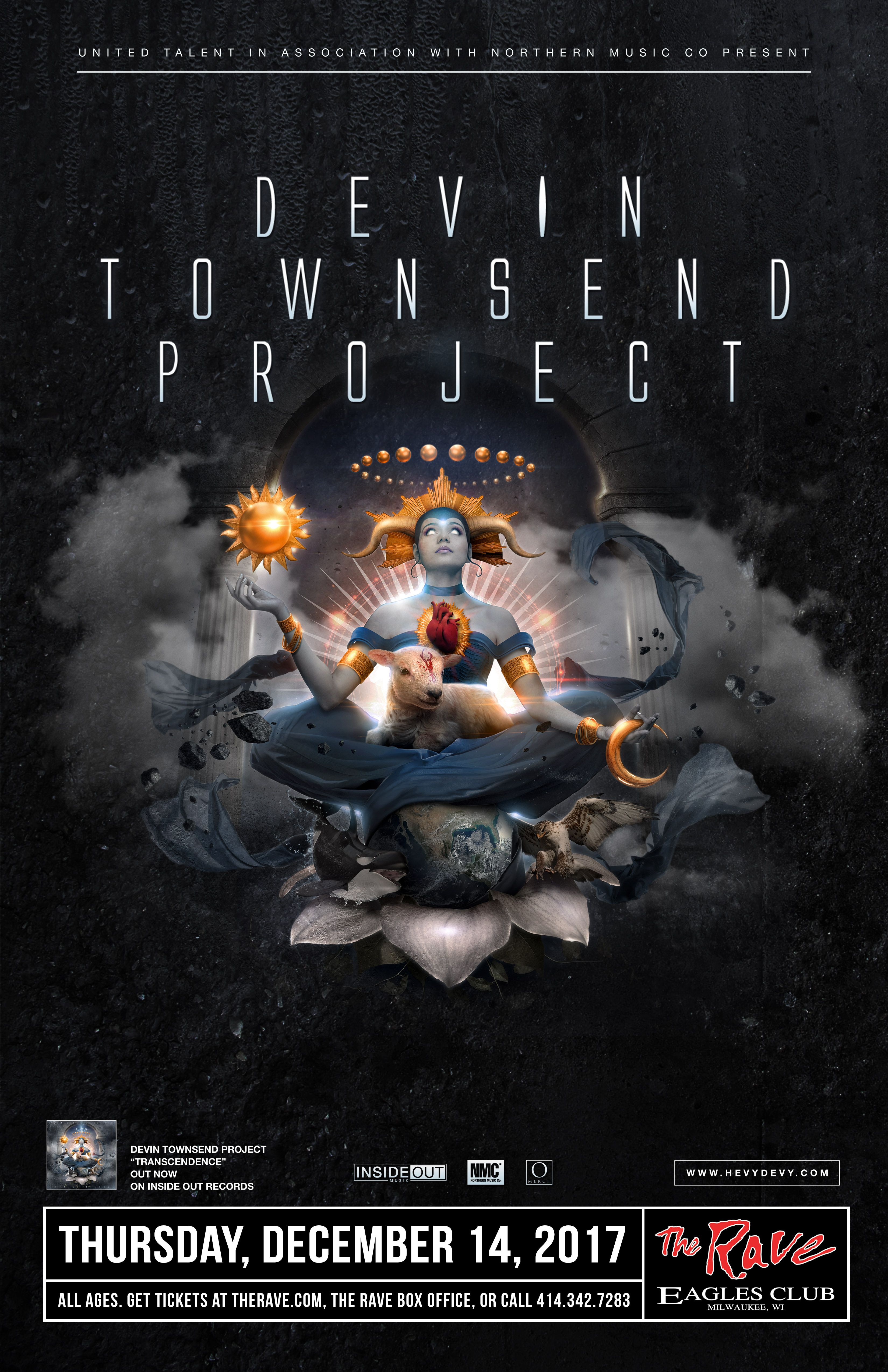 Devin Townsend Project Thursday December 14 2017 At 8pm The Rave Eagles Club Milwaukee Wi All Ages To Enter 21