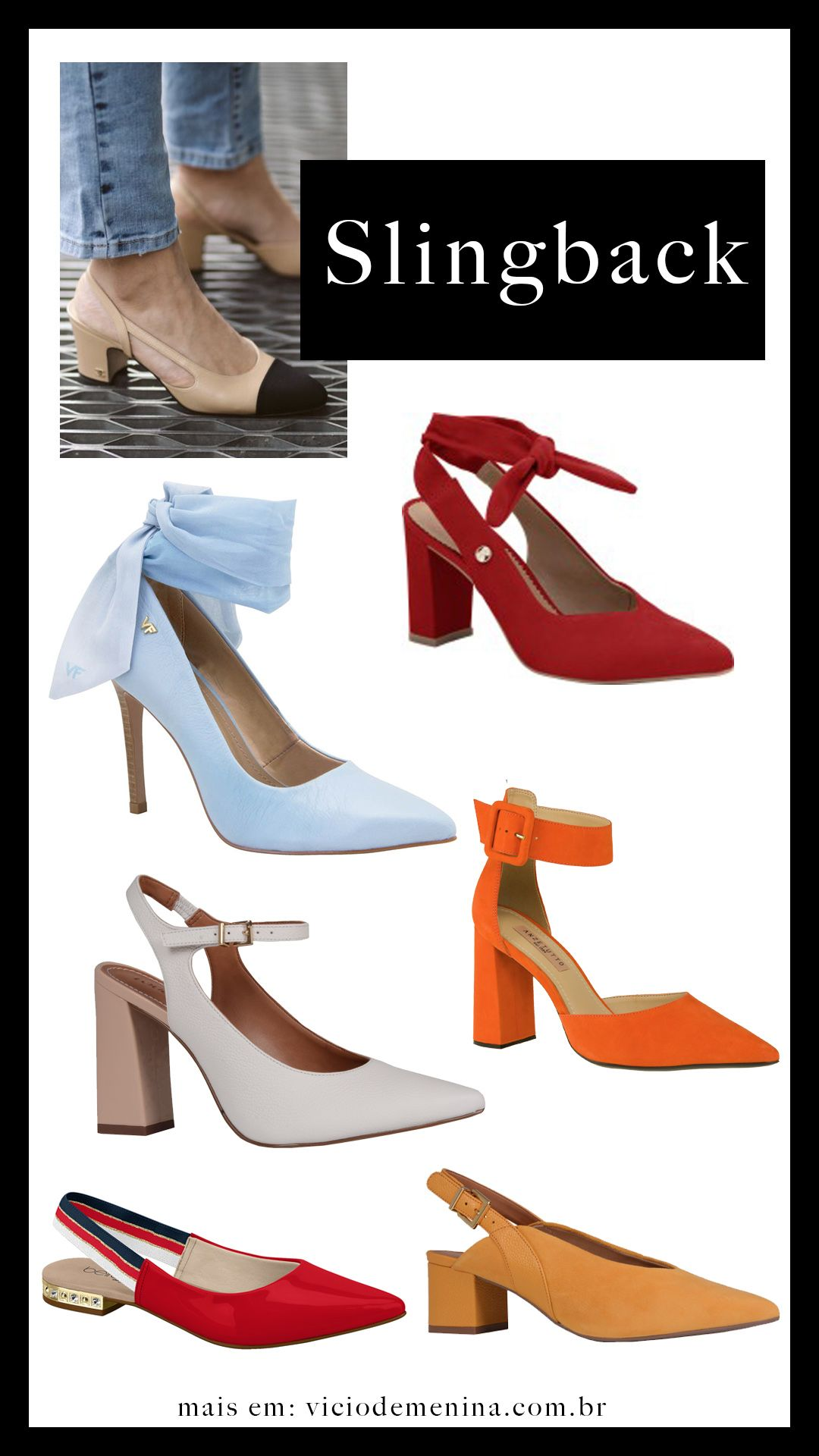 ed54148c43f sapatos tendencias primavera verao slingback 2019 Sapatos Femininos  Importados