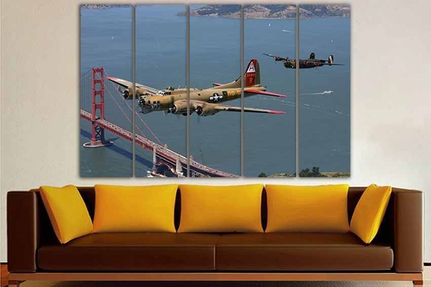 3 Panel Set Bomber B 17 B 25 Bomber Lockheed Plane Airplane Etsy Aircraft Nursery Airplane Wall Art Nursery Wall Decor
