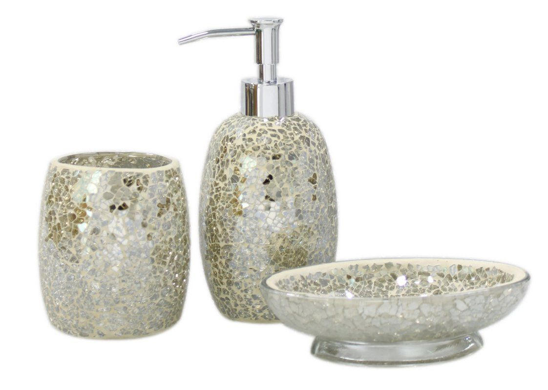 Mosaic 3-Piece Bathroom Accessory Set | Master bathroom | Pinterest ...