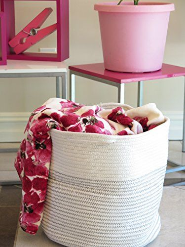 Gentil [Toy Storage Ideas] Storage Basket   Cotton Rope Storage Baskets With  Handles, 15
