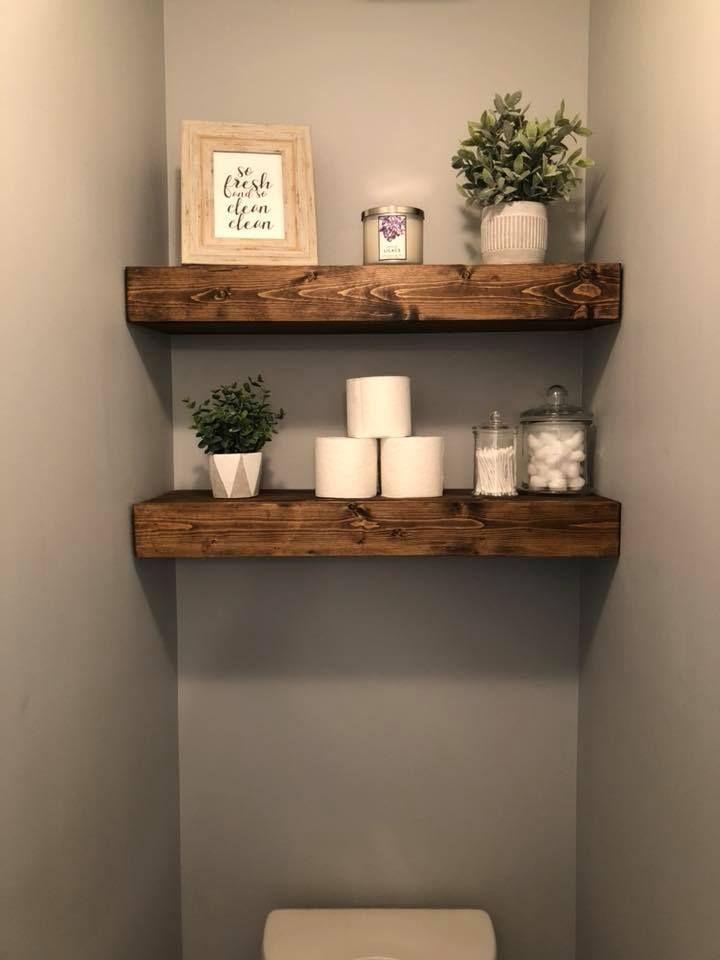Idea of shelf arrangement behind the toilet - Wood Designs - New Ideas -  #the #designs #Behind #Idea #Regalanordnung #Toilet   - #arrangement #bestbathroomdecor #designs #diybathroomideas #diyHousedesign #idea #Ideas #Shelf #Toilet #Wood